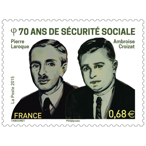 Creation of a stamp for 70th birthday of the French public welfare system